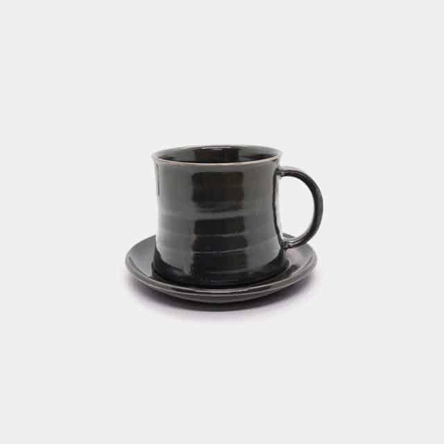 【常滑焼】とこなめ陶の森 鈴木麻莉子 マグカップ&ソーサー 中