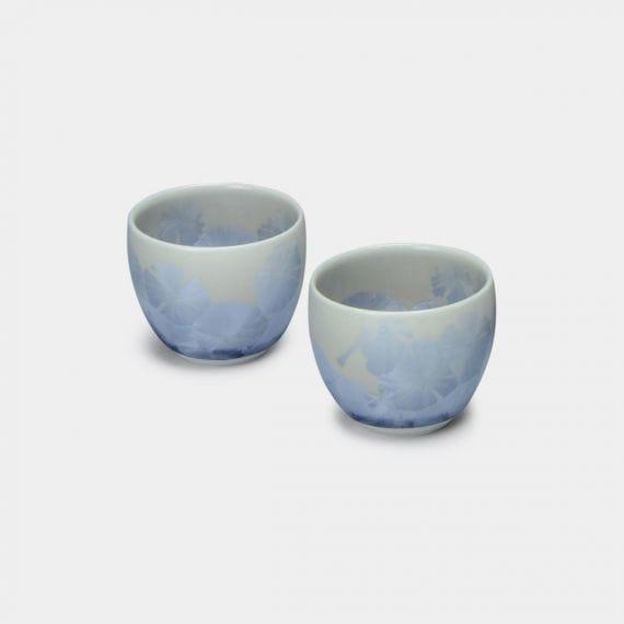 【京焼-清水焼】陶葊 花結晶 [銀藤]