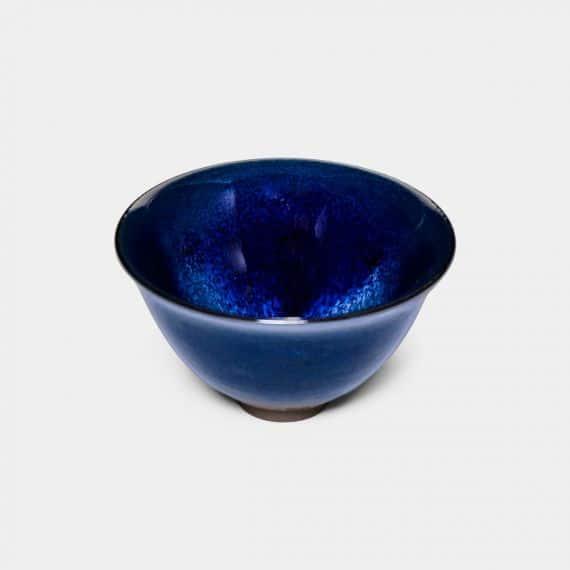 【京都-清水焼】陶葊 星雲天目 盃