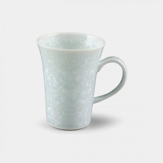 【京焼-清水焼】陶葊 花結晶 (白) マグカップ