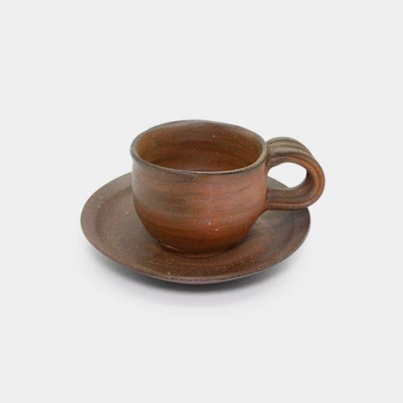 【備前焼】恒枝治豆 [陶芸家] コーヒーカップ&ソーサー