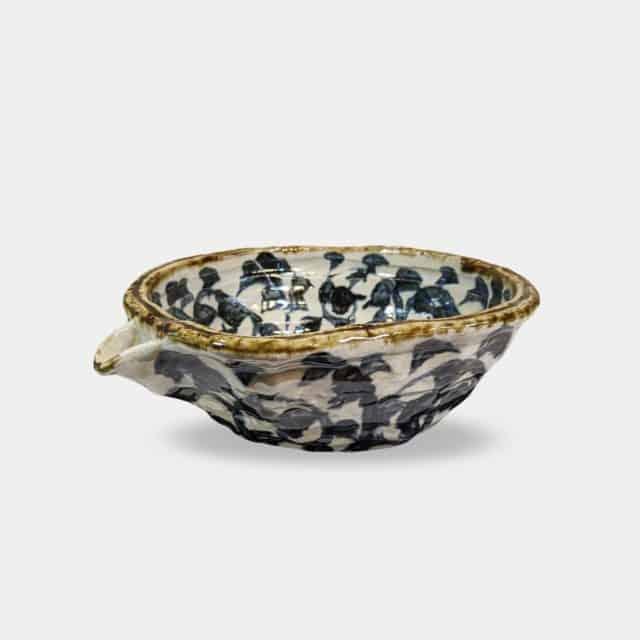【美濃焼】マルモ加藤陶器 タコ唐草 片口深鉢