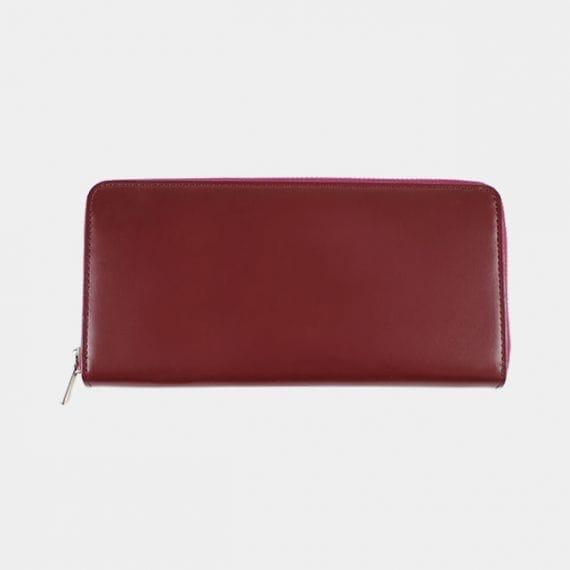 【松阪牛革】さとり (バンビ) 日本製・スマートラウンドファスナー長財布 (葡萄) さ とりナチュラルシリーズのスマートラウンドファスナー長財布