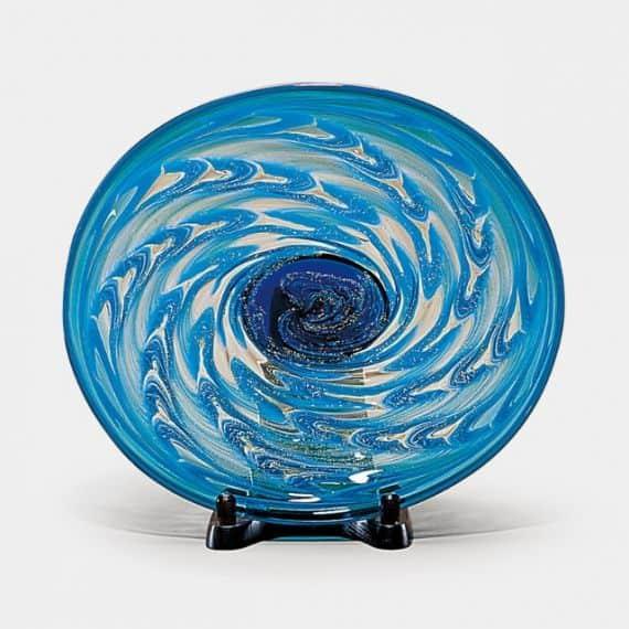 【津軽びいどろ】北洋硝子 (アデリア) 津軽海峡 楕円大皿