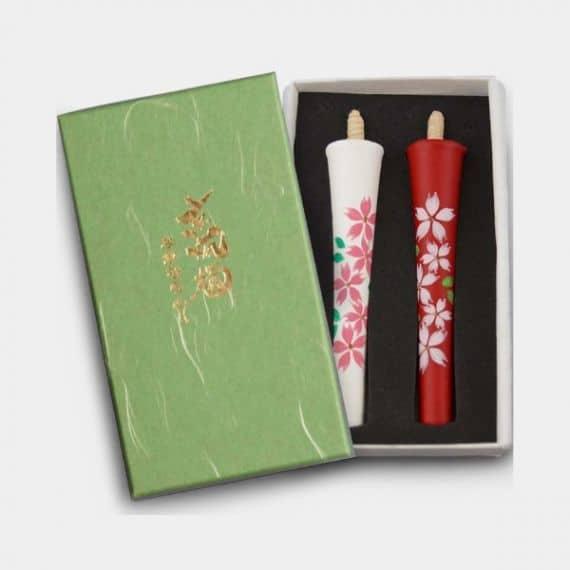 和ろうそく 中村ロウソク 碇型4匁 桜 (ハ)