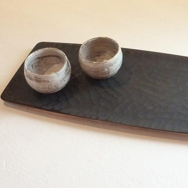 【香川漆器】87.5 長手盆 のみ目象谷 45cm