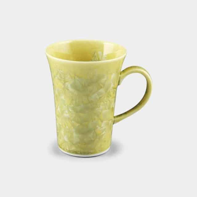 【京焼-清水焼】陶葊 花結晶 (黄) マグカップ