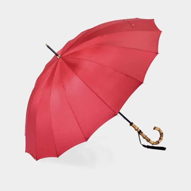 【東京洋傘】宮内庁御用達 前原光榮傘商店「婦人」雨傘 トラッド 16 カーボン (レッド)
