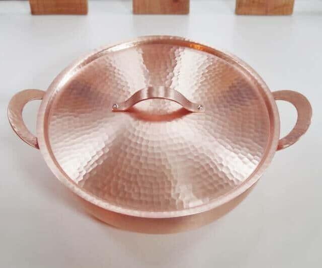 新光堂 手打ち新鎚起銅器 純銅製卓上鍋