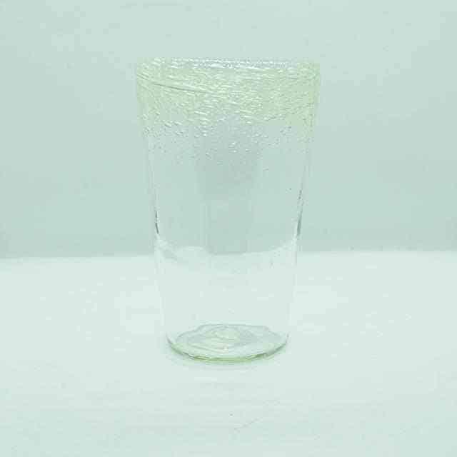 【ガラス細工】一星 ふち泡グラス High