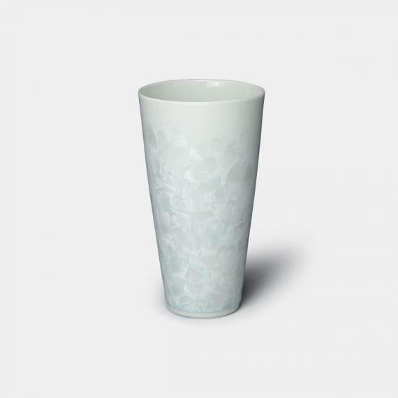 【京焼-清水焼】陶葊 花結晶 (白) ビールタンブラー