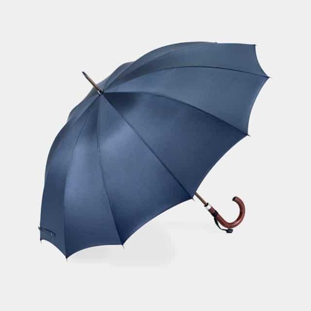 【東京洋傘】宮内庁御用達 前原光榮傘商店「紳士」雨傘 トラッド 12 カーボン (ダークブルー)