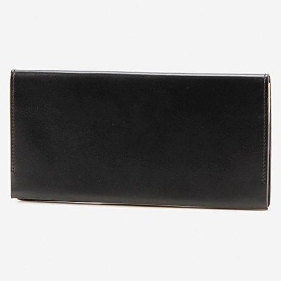 【松阪牛革】さとり (バンビ) 日本製・長財布 (小銭入無) (硯)