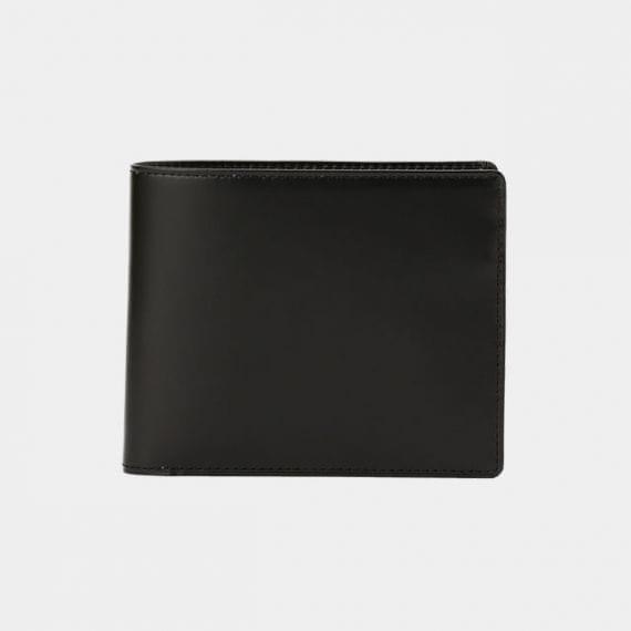 【松阪牛革】さとり (バンビ) 日本製・二折財布 (小銭入有) (硯)