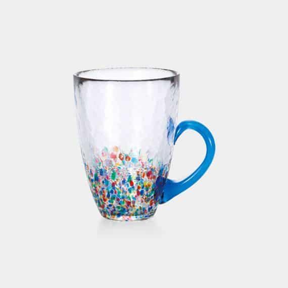 【津軽びいどろ】北洋硝子 (アデリア) ねぶたマグ 瑠璃