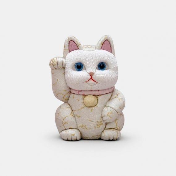 【江戸木目込み】柿沼人形 招き猫 金襴