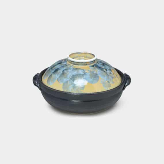 【京焼-清水焼】陶葊 花結晶 (灰青) 土鍋 (ガス&IH対応)