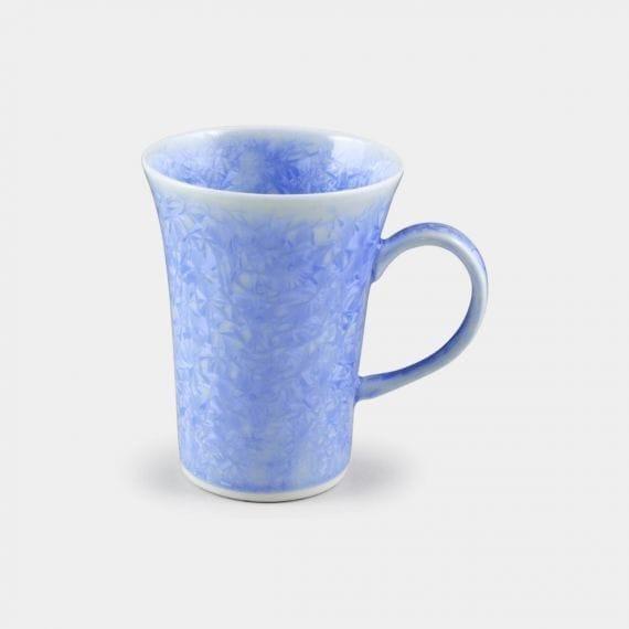 【京焼-清水焼】陶葊 花結晶 (青) マグカップ