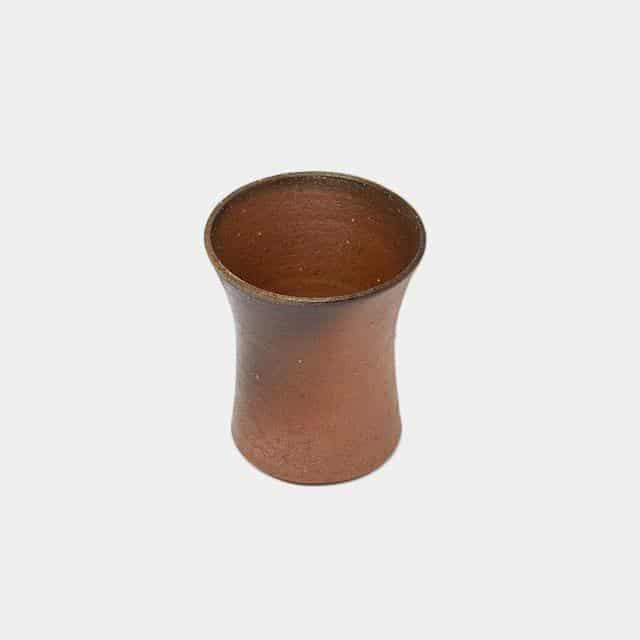 陶芸家「恒枝直豆」の備前焼ビアカップ(小)