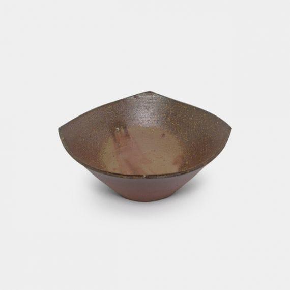 【備前焼】恒枝直豆 (陶芸家) 四方鉢 (大)