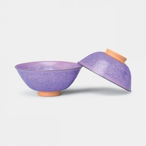 【京焼-清水焼】瑞松 紫式部 組茶碗 (2点セット)
