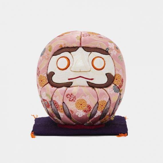 【江戸木目込み】柿沼人形 江戸だるま (大) 西陣 ピンク