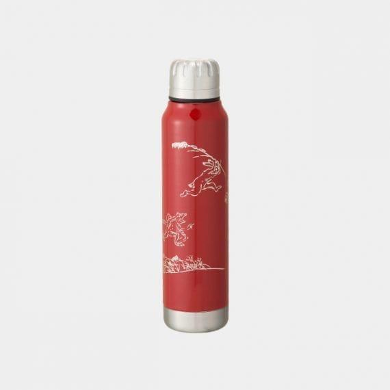 【越前漆器】thermo mug × 土直漆器 うるしアンブレラボトル 鳥獣戯画 (レッド)