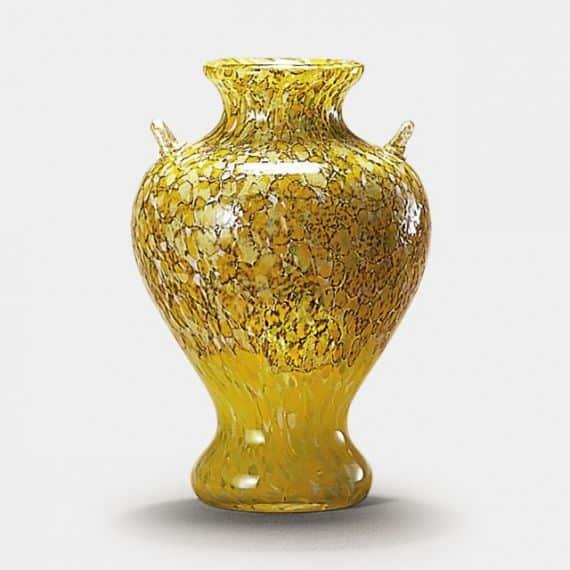 【津軽びいどろ】北洋硝子(アデリア)白神山 黄葉 花瓶