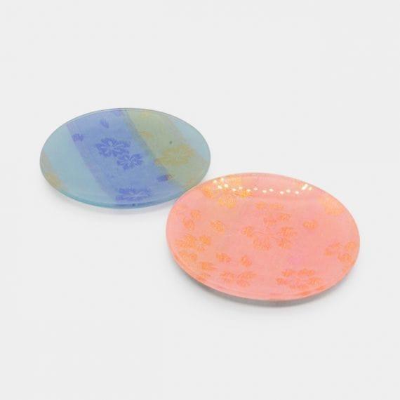 【西陣織】ORI-ZARA お皿 (桜) ピンク&ブルー 6点セット