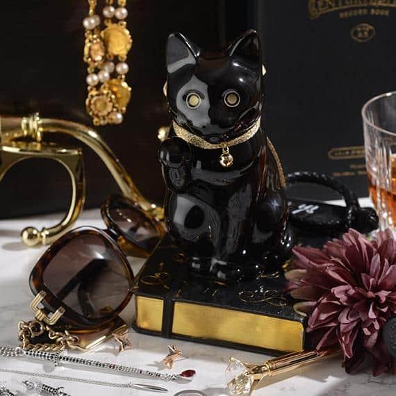 【肥前吉田焼】Kata Koto へそくりの招き猫 ブラック
