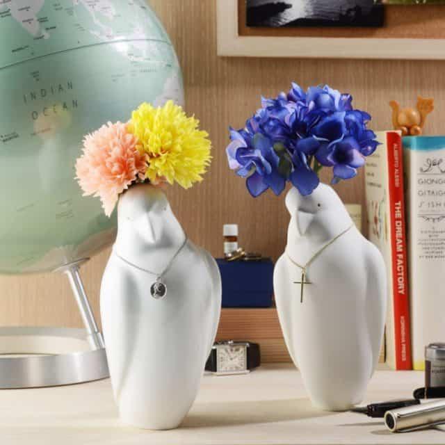【肥前吉田焼】Kata Koto オウムの花瓶