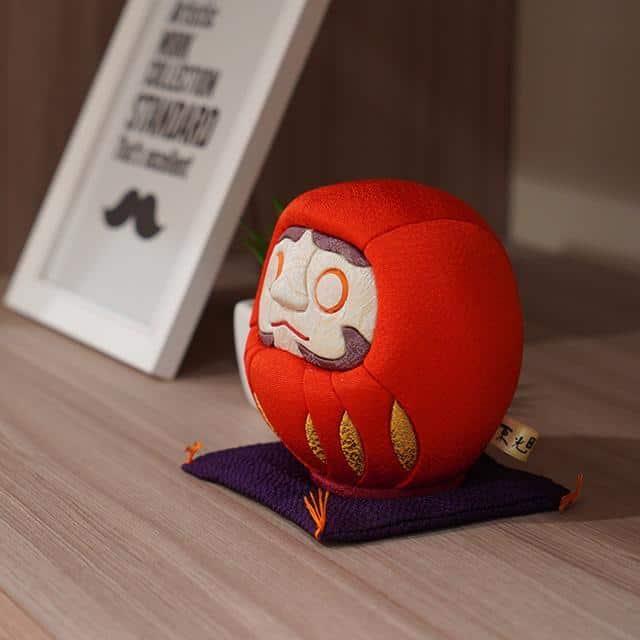 【江戸木目込み】柿沼人形 江戸だるま (大) 風水 赤