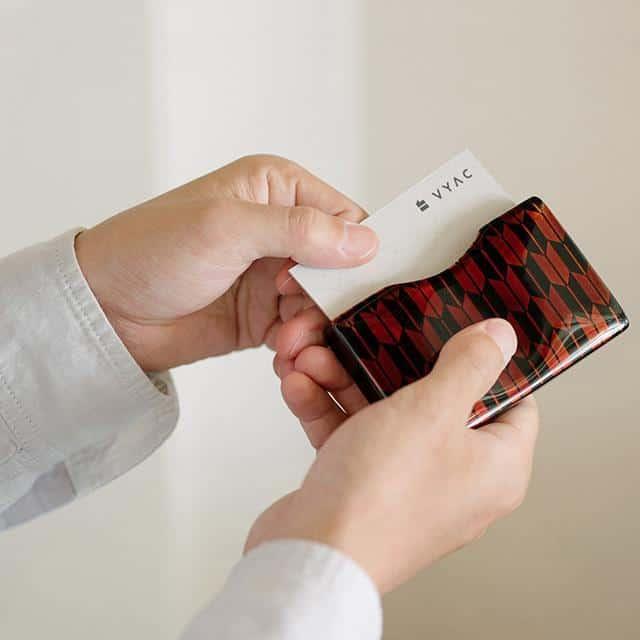 【越前漆器】土直漆器 うるしの名刺入れ VYAC CARD CASE 青海波