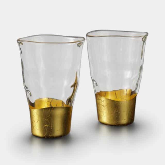 【金沢箔】箔一 貫入 タンブラーグラス (2個)