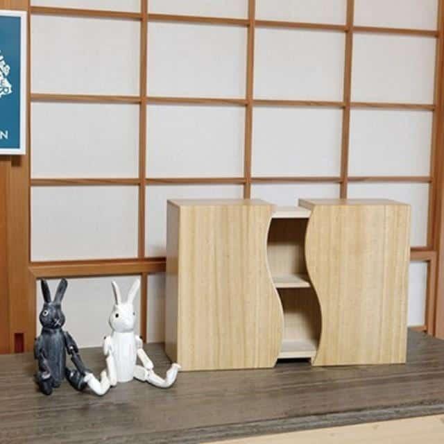 【加茂桐箪笥】想ひ凾 (野本桐凾製作所) 桐の飾り棚