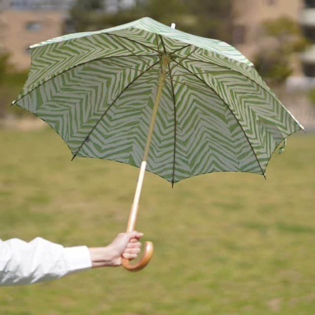 【手捺染】鷲野染工場 日傘 スター