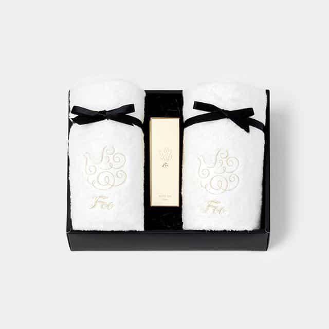 【今治タオル】Foo Tokyo オーガニックコットン ハンドタオル2枚 & プレミアムバスオイル1本 ギフトセット