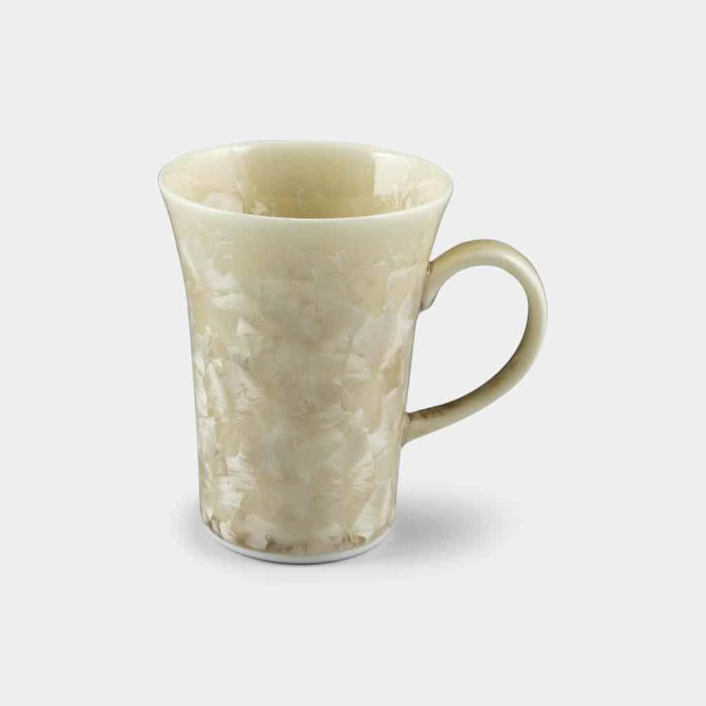 【京焼-清水焼】陶葊 花結晶 (茶) マグカップ