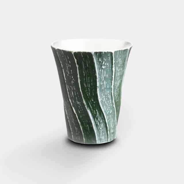【大阪浪華錫器】大阪錫器 会津仕上げ 深山 深緑
