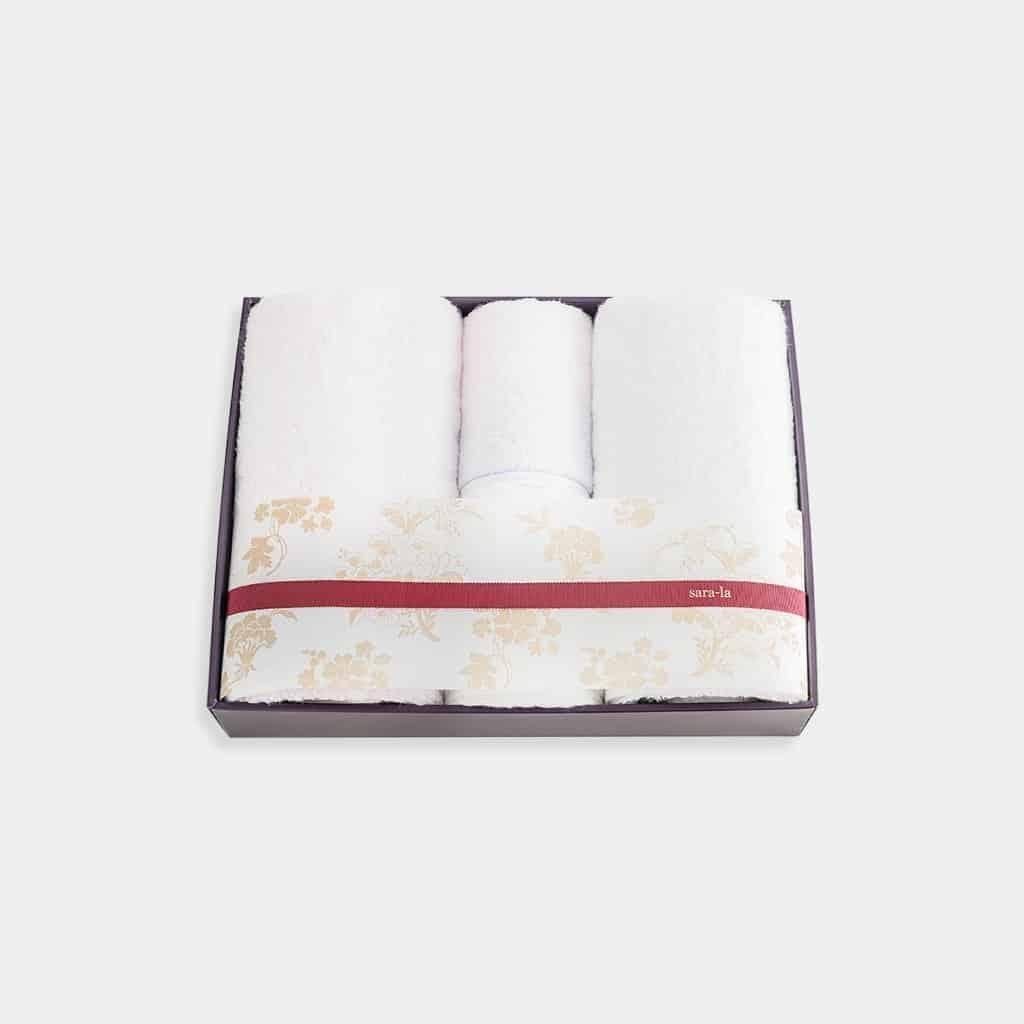 【今治タオル】sara-la「彩-irodori-」バスタオル2枚とフェイスタオル2枚セット (ピンク・ホワイト)
