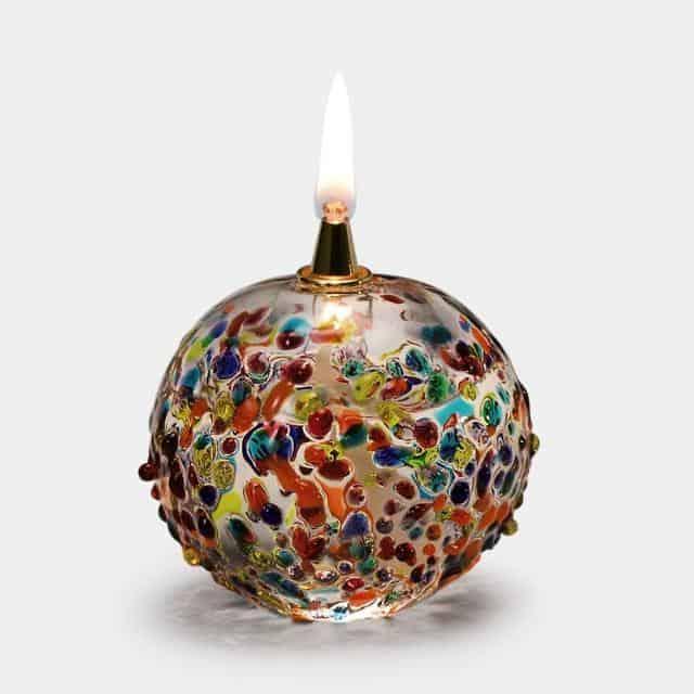 透明感と色のバリエーションが魅力なオイルランプ【津軽びいどろ】