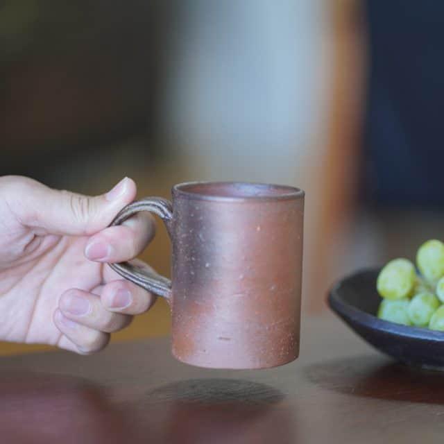 【備前焼】恒枝直豆 (陶芸家) マグカップ