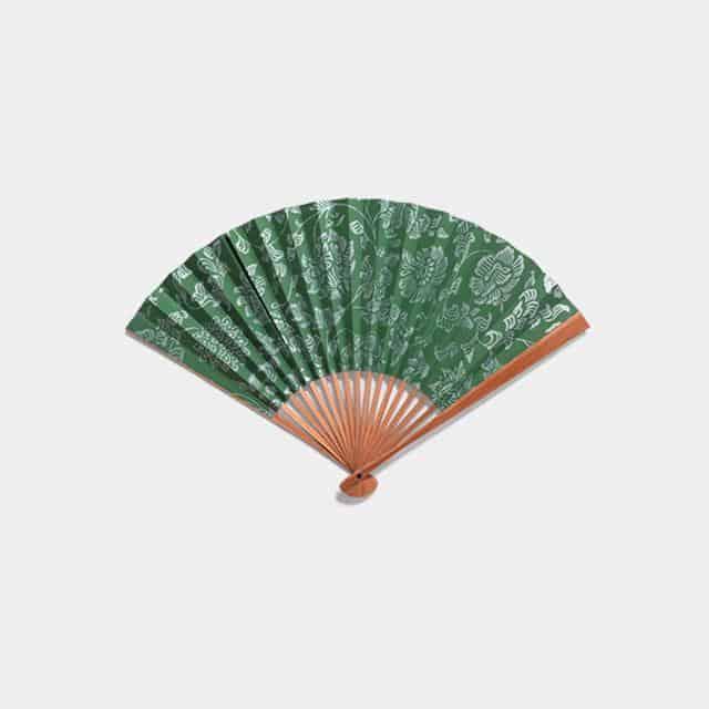 【江戸扇子】雲錦堂 深津扇子店 男持 重ね塗木版 本煤竹