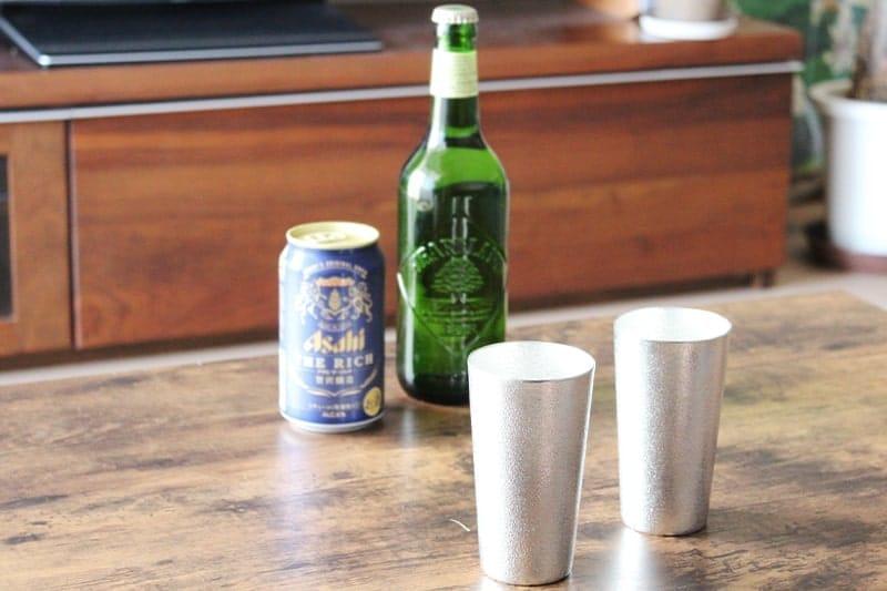 能作の錫ビアグラス