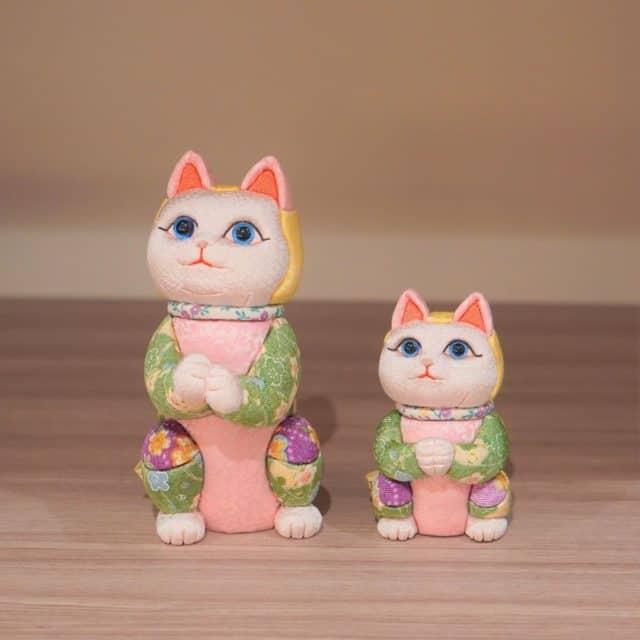 【江戸木目込み】柿沼人形 招き猫 星に願いを (ちりめん多色)