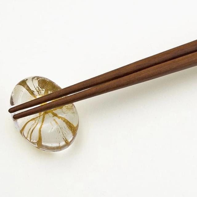 【金沢箔】箔一 夫婦箸・箸置きセット 金糸 (金)