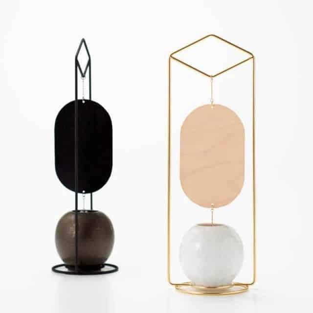 モダンなデザインがインテリアに最適な「清水焼の風鈴」