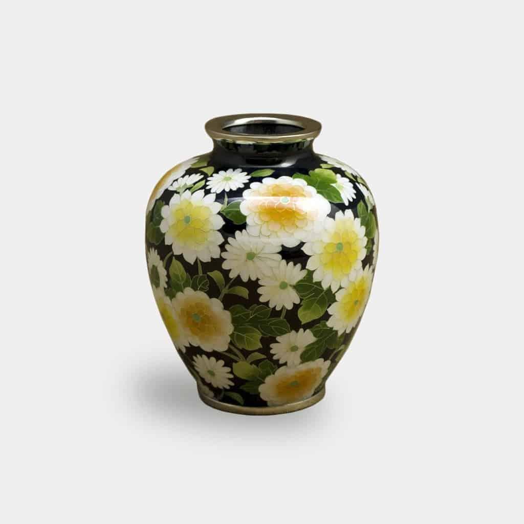 【尾張七宝】加藤七宝製作所 有線花瓶 3玉形 菊詰 花瓶
