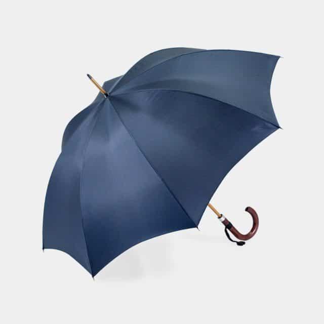 【東京洋傘】宮内庁御用達 前原光榮傘商店「紳士」雨傘 トラッド 08 (ダークブルー)