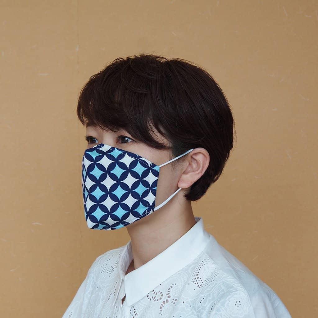 【京友禅】京都の染屋がつくった™ KINUMASK 角型 (男女兼用) H